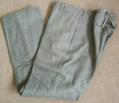 Wwi Us Usmc Marine P1917 Combat Field Trousers,forest Green Wool-Small