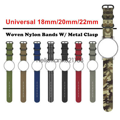 18mm 20mm 22mm Ballistic Durable Military Nylon Wrist Watch Band Strap