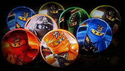 Ninjago -12 Toy Rings-Party Favors Kids Birthday Pinata Prizes Lego Cupcake