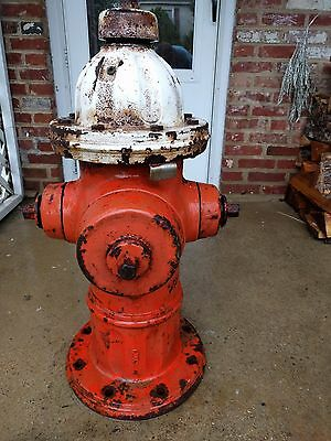 Vintage Cast Iron Real Fire Hydrant Garden Sculpture Pump Antique Industrial Art