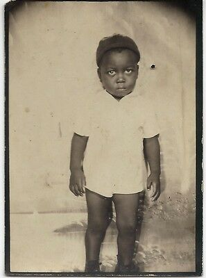 Vintage African American Child Medium Size Photo Booth Old Black Americana