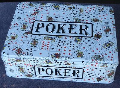 Poker Game - Collectible Tin - BRAND NEW SET IN TIN - GREAT PROFESSIONAL SET
