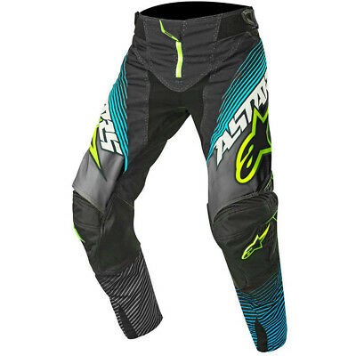 Alpinestars 2017 Mx NEW Techstar Factory Black Teal Fluro Yellow Motocross Pants