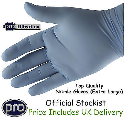 Gloves Nitrile Rubber Superior Powder Free Heavy Duty Extra Large XL Box of 100