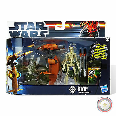 Stap With Battle Droid - B-Ware - Star Wars: Movie Heroes - Hasbro