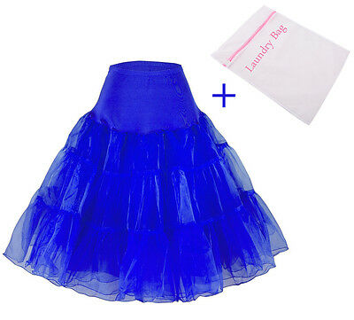 18 Colors Retro 50's Vintage Rockabilly Petticoat Underskirt with Laundry Bag