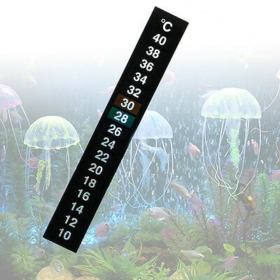 1/5/10pcs Aquarium Fish Digital Tank Thermometer Temperature Sticker Stick-On