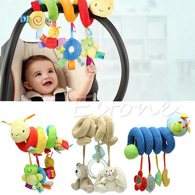 Hot Spiral Stroller Car Seat Travel Hanging Lathe Activity Toys Baby Rattles Toy