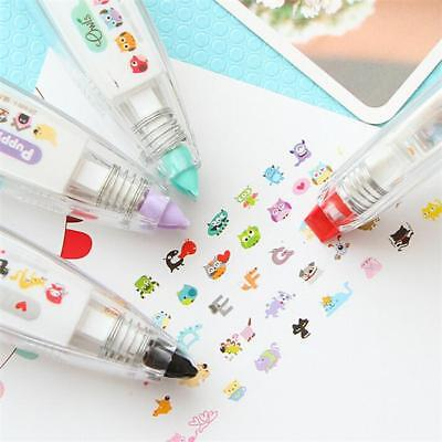 1 Pc Cartoon Decoration Tape Pen Deco Rush Cat Dog Owl DIY School Stationery LH