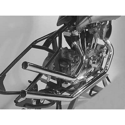 Chrome Upswept Exhaust Pipe Set for Harley Rigid Ironhead Sportster