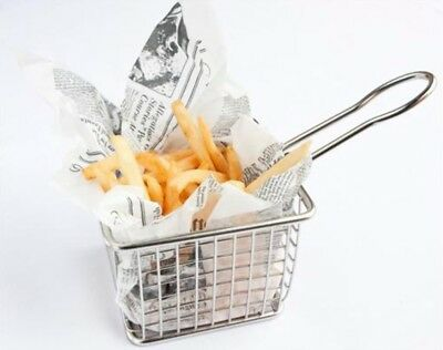 TopStyle Mini Fry Basket Stainless Steel Square