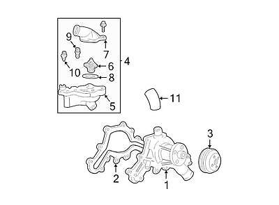 Ford OEM Engine Coolant Thermostat Kit YU3Z8A586AA Image 4