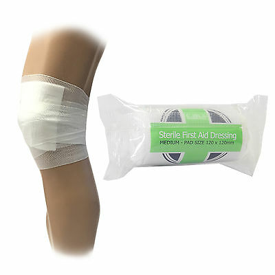 5 x CMS Medical Medium Sterile First Aid Wound Injury Dressing Bandages 12x12cm