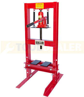 GOLEM Heavy Duty 6 Tonne Hydraulic Floor Standing Shop Press Workshop Garage CE