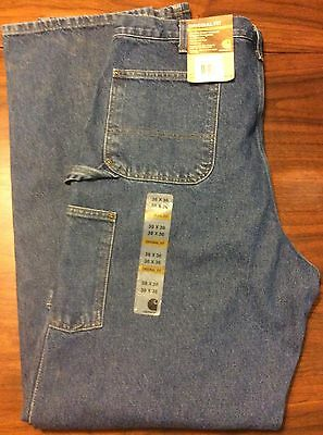 Carhartt Double Front Washed Logger Dungaree Pants 38 X 36 Denim New
