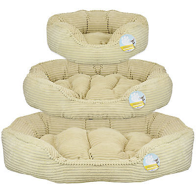 Me & My Pets Cream Corduroy Thick Plush Soft Dog/puppy/cat/pet Bed Cushion S/m/l