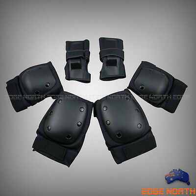 High Quality Skate Protection Elbow Pads Knee Pads Wrist-Brace Guards 6Pcs / Set