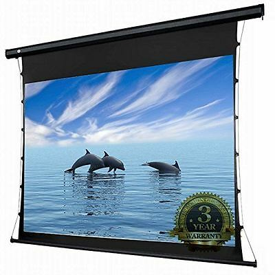 """PCW133MET  Tab-Tensioned 133"""" Projector Screen Matte White 16:9 Widescreen"""