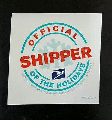 "SET OF 3 STICKER ""OFFICIAL SHIPPER OF THE HOLIDAYS"" usps memorabilia postal"