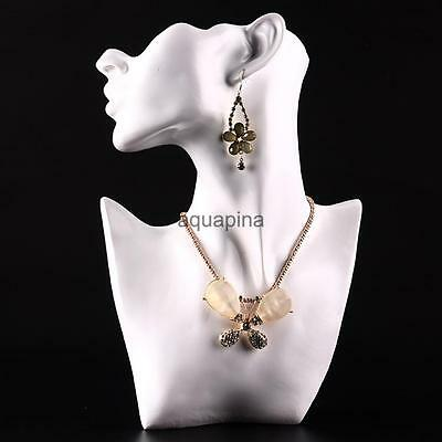 Head Bust Stand Necklace Earring Chain Jewelry Display Holder Rack Show