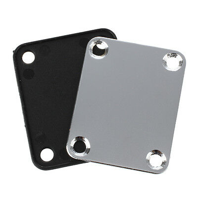 UK Chrome Guitar Neck Plate With One Rubbermat Stratocaster Telecaster  DT