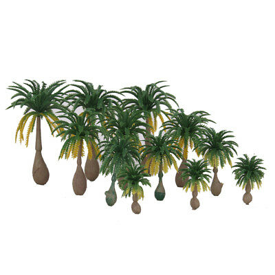 12x Layout Model Train Coconut Palm Trees Rain Forest Scale 1: 100-1: 250