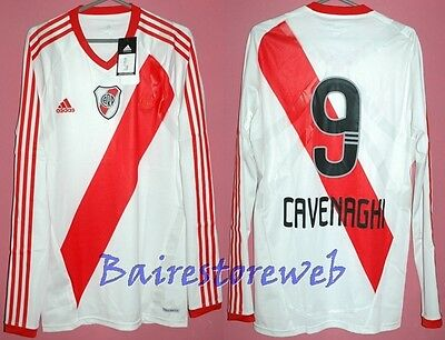 Great RIVER PLATE 2012 PLAYER ISSUE jersey TECHFIT #9 CAVENAGHI Adidas Sz L