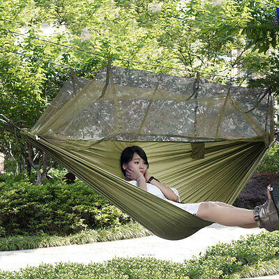 Net Outdoor Jungle Camping Hammock Hanging Swing Large Portable Sleeping Bed