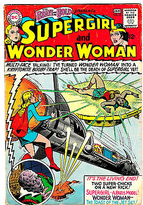 BRAVE AND THE BOLD #63 (VG/FN) WONDER WOMAN & SUPERGIRL Team-up! DC 1965