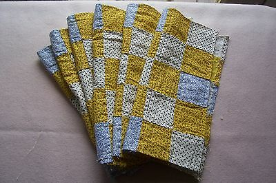Vtg Antique 1800's 19c Century Quilt Cotton Fabric 25 Patch  Blocks