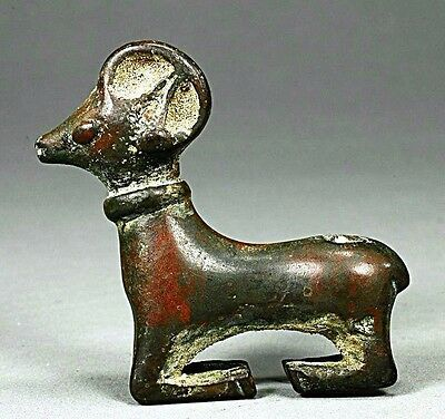 Ancient Near Eastern Luristan Bronze Animal Ram.