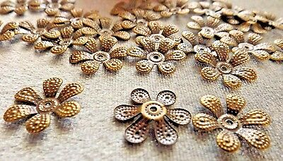 Filagree Flower Spacer Bead Finding Bronze 11 Mm 50 Pieces