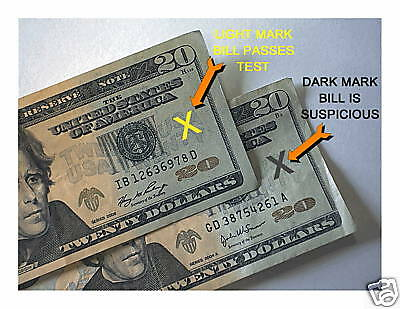 2 Pieces Counterfeit Money Bill Detector Pens Usa Seller Shipped Quickly