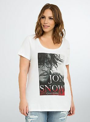 1081f69f Torrid Game Of Thrones JON SNOW Women's Plus Size T-Shirt NWT Licensed
