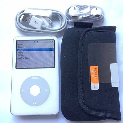 Genuine Apple iPod Classic 5th Generation White 80GB - Used - Warranty