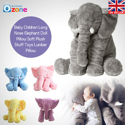 Soft Plush Baby Children Gift Long Nose Elephant Pillow Doll Stuff Toys Lumbar