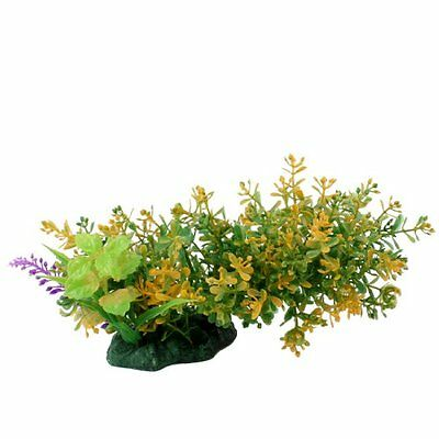 Sourcingmap Fish Tank Landscaping Plastic Water Grass Plant, 6-inch, Green  Yell