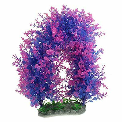 sourcingmap Aquarium Fish Tank Purple Fuchsia Aquascaping Plastic Plant 13