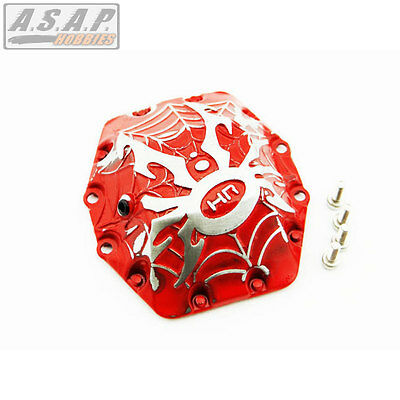 Axial AX10 & Wraith AR60 Axle Spider Metal Diff Cover (Red) Hot Racing WRA12CW02