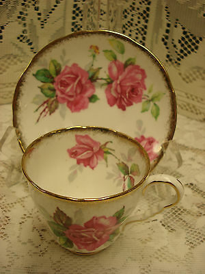 ORPHAN Royal Stafford SAUCER ONLY BERKELEY ROSE Made In England TR2