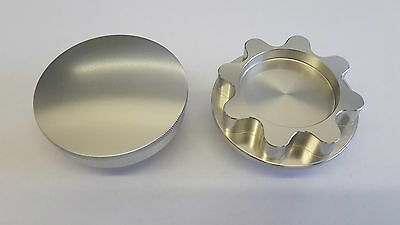 Mazda Mx5 / Roadster Alloy oil filler cap silver round style