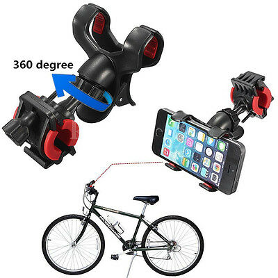 Bicycle Bike Handlebar Clip Mount Holder Stand for Mobile Phone iPhone 6 5s GPS