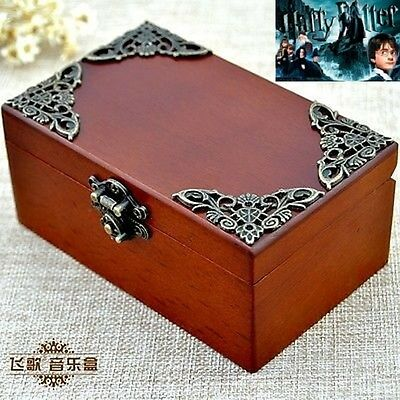 Vintage Recentangle jewelry Music Box : HARRY POTTER HEDWIG'S THEME