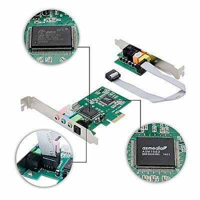 PCI-E to 8 Channel 3D Audio 3 Channels Digital Sound Express Card For Win 10 8.1