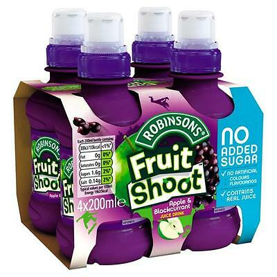 24 X 200ml Robinsons Fruit Shoot Apple & Blackcurrant Juice Drink No added Sugar