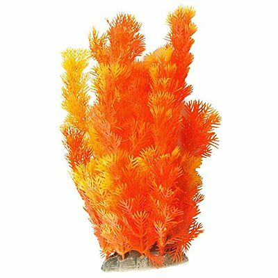 Sourcingmap Plastic Aquarium Fish Tank Plants Ornament, Yellow Orange