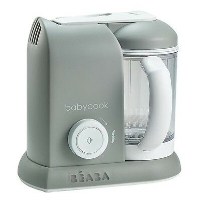 NEW Beaba Babycook Solo Grey Baby Food Processor Steam Cook Blend Defrost Heat