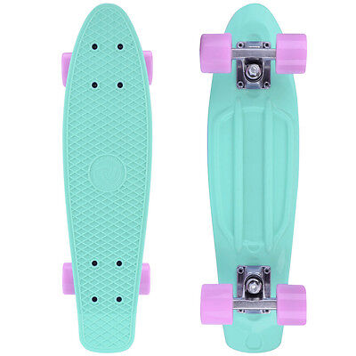 City Rider™ Retro Skateboard Mint-Original Mini Cruiser Skateboard 22 Zoll ABEC9