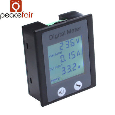 AC Digital Multifunction Power Monitor Meter Current/Voltage/ Power Meter 0-100A