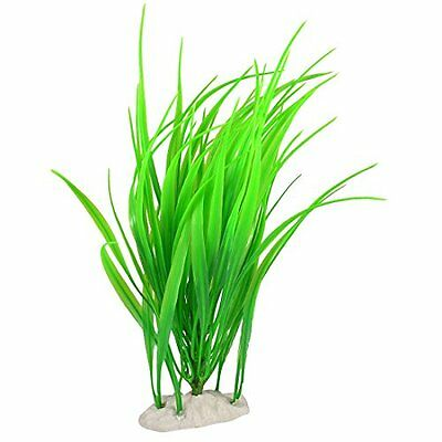 Sourcingmap Plastic Fish Tank Aquarium Decor Aquatic Plant, 12-Inch, Green